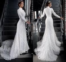 muslim wedding dresses vintage muslim wedding dress high neck sleeve bridal gowns