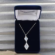 diamond box necklace images Summer skies double diamond necklace montana silversmiths jpg