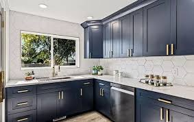 navy blue kitchen cabinet design blue kitchen cabinets here s where to buy them