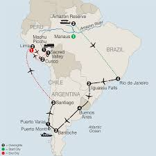 Peru South America Map by Central U0026 South America Tours Globus Escorted Travel