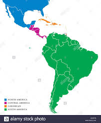 America North And South Map by Latin America Subregions Map The Subregions Caribbean North