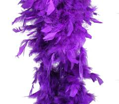 purple feather feather boa 6 60 grams