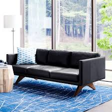 Blue Leather Sofa by Brooklyn Leather Sofa 81