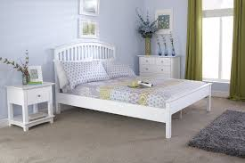 Gfw Madrid Wooden Low Foot End Bed Frame In White Beds Direct