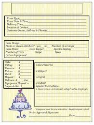 wedding cake order form 23 best cake order forms images on cake pricing order