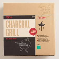 mini lagoon blue charcoal barbecue grill world market