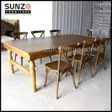 wood furniture antique wood table rustic banquet table 8 seater