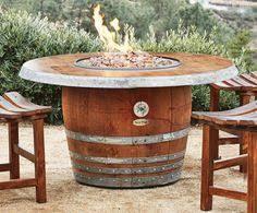 Wine Barrel Patio Table Wine Barrel Patio Table Build It Pinterest Pub Tables Patio
