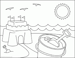 beach coloring pages preschool summer coloring pages preschool cute coloring