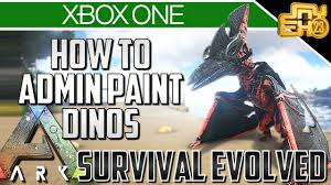 ark xbox one how to paint your dinos admin paint commands
