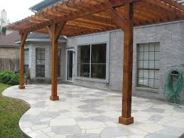 Landscaping Round Rock by White And Blue Flagstone Patio Constructed By Ol U0027 Yeller