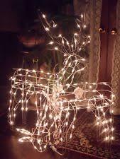 lighted reindeer front yard christmas sculptures set of 2 lighted reindeer doe buck