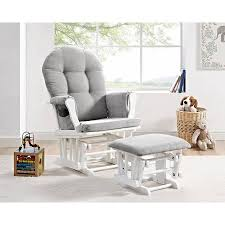 angel line windsor glider and ottoman white finish and gray