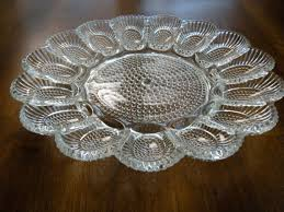 glass deviled egg plate pottery deviled egg tray thuexedulich