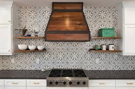 Blue And Gray Cement Kitchen Backsplash Tiles Design Ideas - Cement tile backsplash
