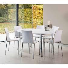 tables de cuisine table de cuisine ovale en stratifié elli 4 pieds tables