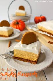 no bake pumpkin cheesecake bars delightful e made
