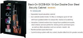 stack on 10 gun double door cabinet shotgun safe buyer s guide