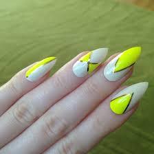 yellow fake nail designs for long nails cute creative nails