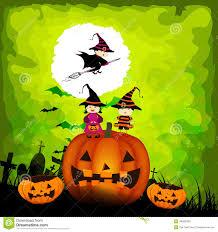 halloween kids party stock vector image 44582493