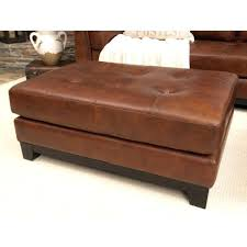 Leather Square Ottoman Coffee Table Brown Leather Ottoman 4 Tray Top Espresso Brown Leather Storage