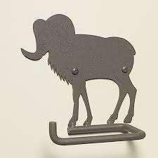 Animal Toilet Paper Holder Metal Big Horn Sheep Toilet Paper Holder