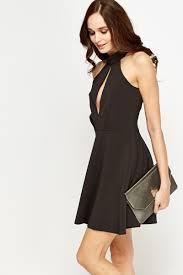 black skater dress cut out black skater dress just 5