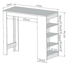 hauteur standard cuisine table avec rangement cuisine table haute hauteur standard table bar