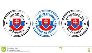 Slovak Flag Round Label