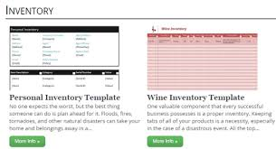 websites to get free inventory template
