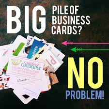 How To Do Business Cards Organizing A Huge Stack Of Business Cards Quickly And Easily