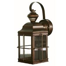 Lowes Porch Lights by Shop Secure Home New England Carriage 14 75 In H Antique Bronze