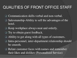 Qualities Of A Front Desk Officer Qualities Of A Front Desk Officer Front Desk Unique Qualities Of