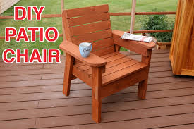 Building Outdoor Wooden Tables by Diy Patio Chair Plans And Tutorial Step By Step Videos And Photos