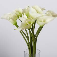 lilly flowers calla flower arrangement in flower vase reviews joss