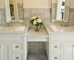 amazing bathroom vanity with makeup counter with sink