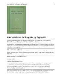 area handbook for bulgaria bulgaria byzantine empire
