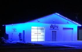 outdoor led light install at carwash lighting outdoor
