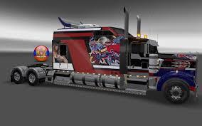kenworth k200 usa kenworth w900 long metallic usa 2 style skin 1 26 4 3s truck skin