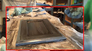 kitchen cabinets with blue paint and black glaze youtube