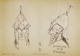 sketch helm of ecthelion by aautio on deviantart