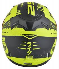 yellow ff ls2 ff 391 matt black yellow helmet custom elements