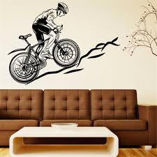 compare prices on removable sports wall decals online shopping bicycle wall decal vinyl sticker sports removable sticker wall decals home decor room decoration waterproof wallpapers