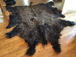 Bison Hide Rug Buffalo Bison Hide Fur Rug Cabin Decor 60 X 77 What U0027s It Worth