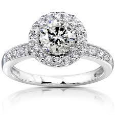 white gold engagement rings cheap k white gold pave engagement ring engagement