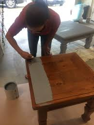 painting furniture without sanding table diy table to ottoman and how paint furniture without sanding