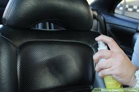 Leather Upholstery Cleaners 7 Ways To Clean Car Upholstery Wikihow