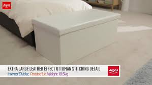 Leather Effect Ottoman Buy Home Xl Leather Effect Ottoman At Argos Co Uk Your