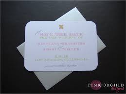 Save The Date Envelopes Pink Orchid Weddings A Modern Save The Date In Pink And Green