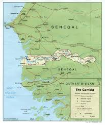 africa map gambia gambia maps perry castañeda map collection ut library